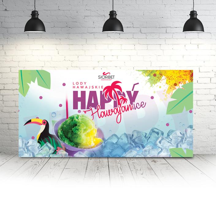baner reklamowy happyice lody hawajskie